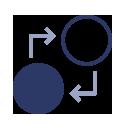 Icono Transformación de costes fijos en variables.